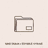 istock Hand Drawn Resources Line Icon with Editable Stroke 1269853733