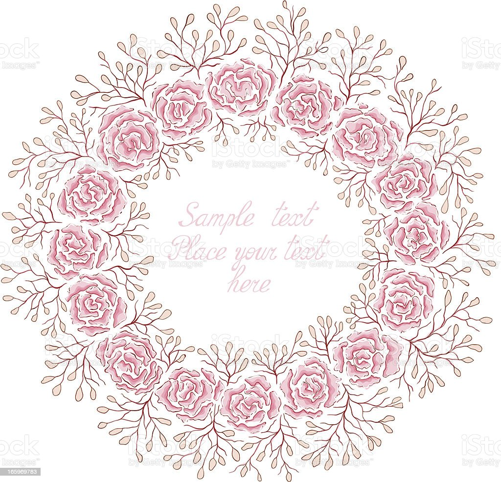 Hand drawn rose frame. royalty-free hand drawn rose frame stock vector art & more images of affectionate