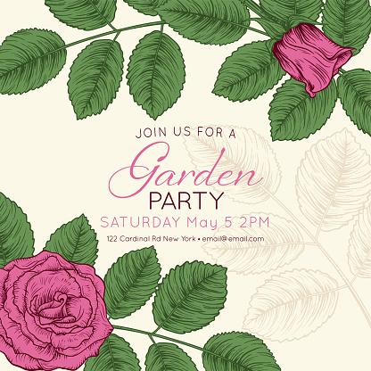 Garden party stock illustrations