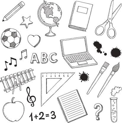 Hand Drawn School Icons