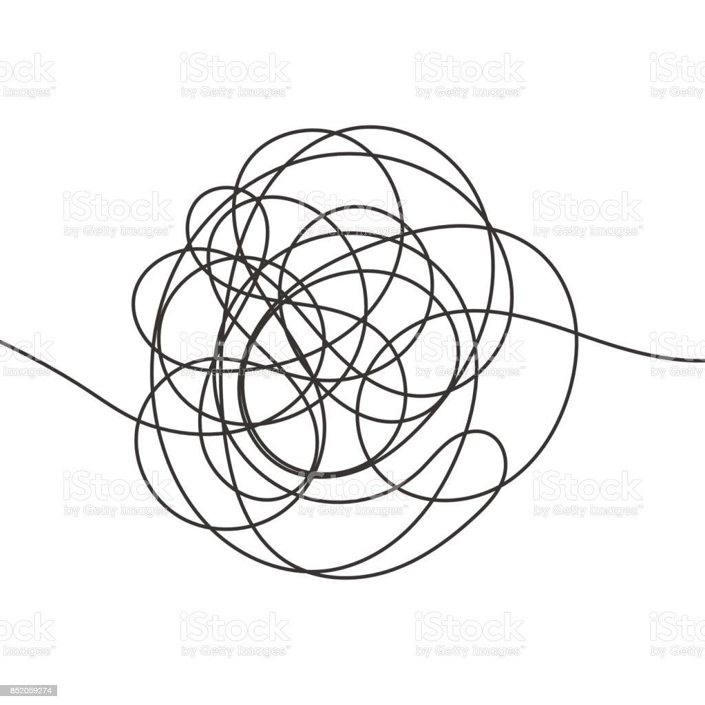 Hand drawn scrawl sketch