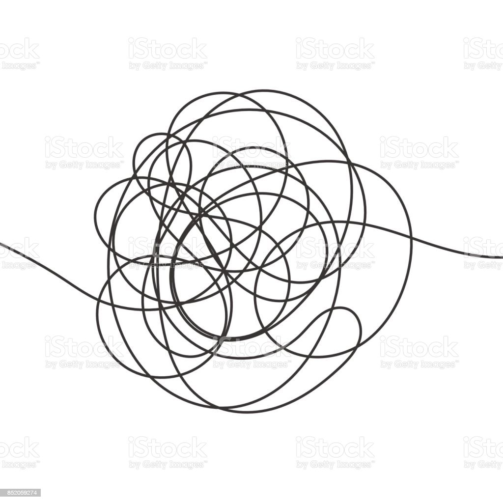 Hand drawn scrawl sketch vector art illustration