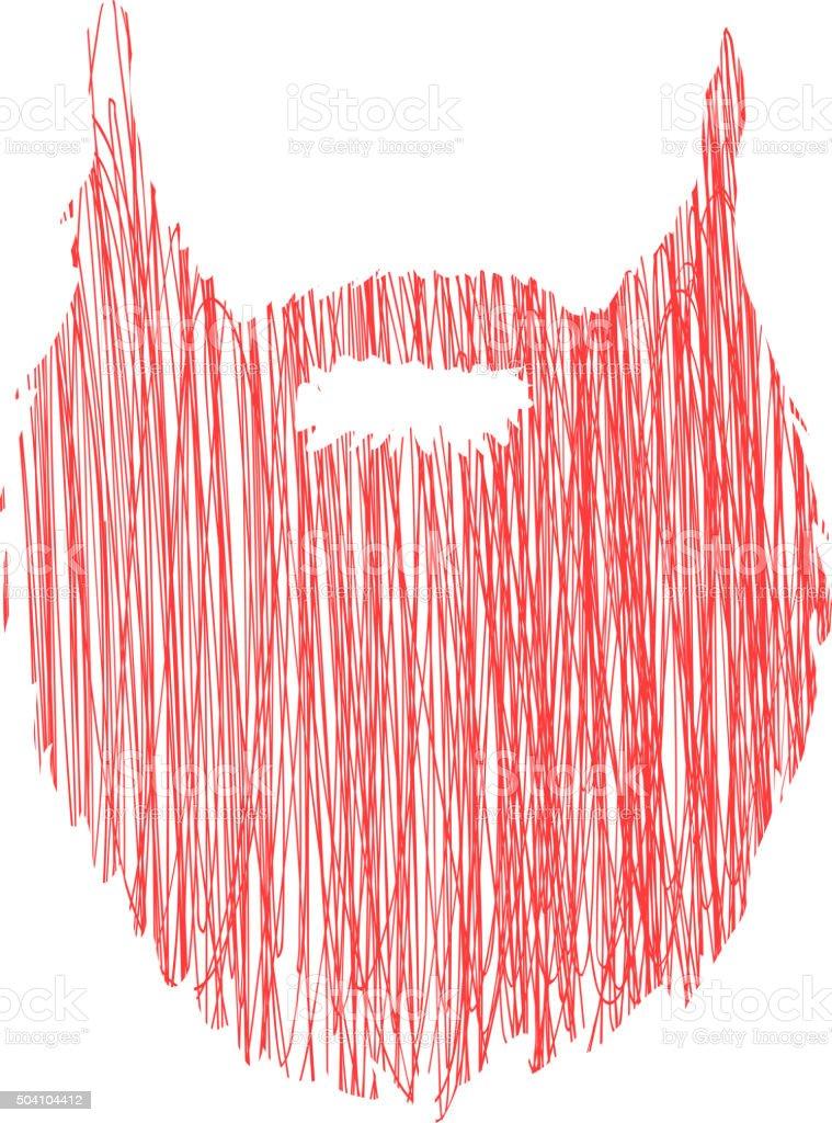Disegno A Mano Scarabocchio Barba Isolato Su Sfondo Bianco