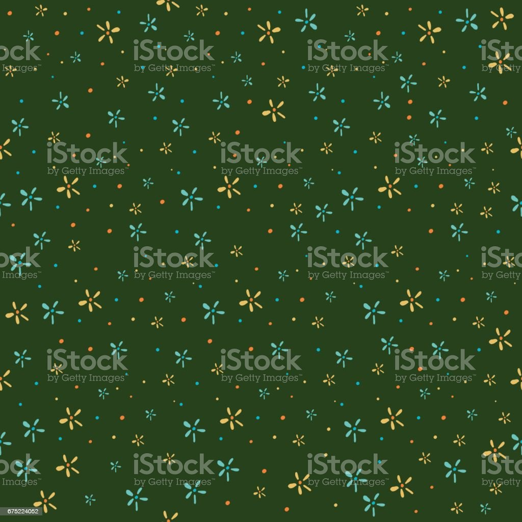 Hand drawn seamless floral pattern royalty-free hand drawn seamless floral pattern stock vector art & more images of abstract