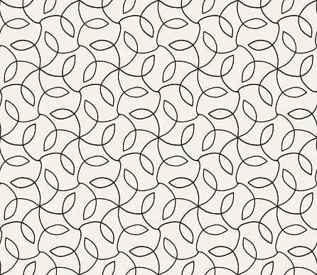 Hand Drawn Seamless Floral Vector Pattern