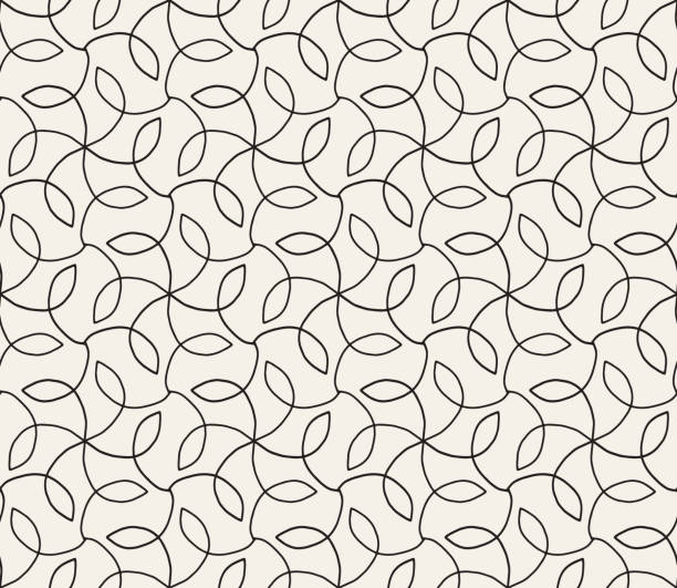 Hand Drawn Seamless Floral Vector Pattern Seamless. Colors easily changed. natural pattern stock illustrations