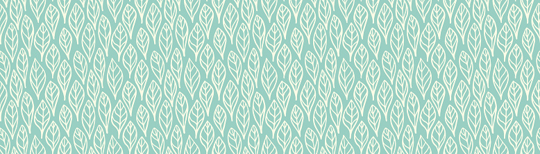 Hand Drawn Seamless Leaf / Feather Pattern Vector