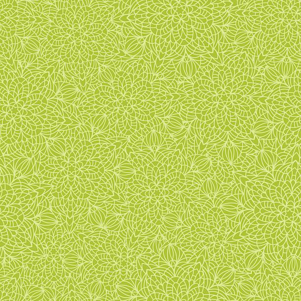 Hand drawn seamless mandala flowers pattern vector art illustration