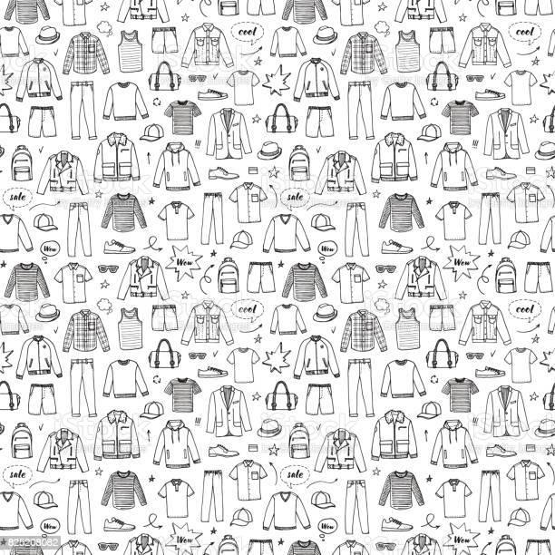 Hand drawn seamless pattern mens clothing and accessories vector id825208082?b=1&k=6&m=825208082&s=612x612&h=vtao 35b9hami2lhsvyu4a09qfoq6qodq5c2j7tpekk=