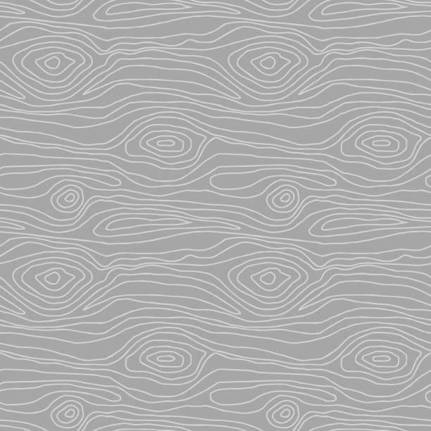 손으로 그린 원활한 패턴 - wood texture stock illustrations