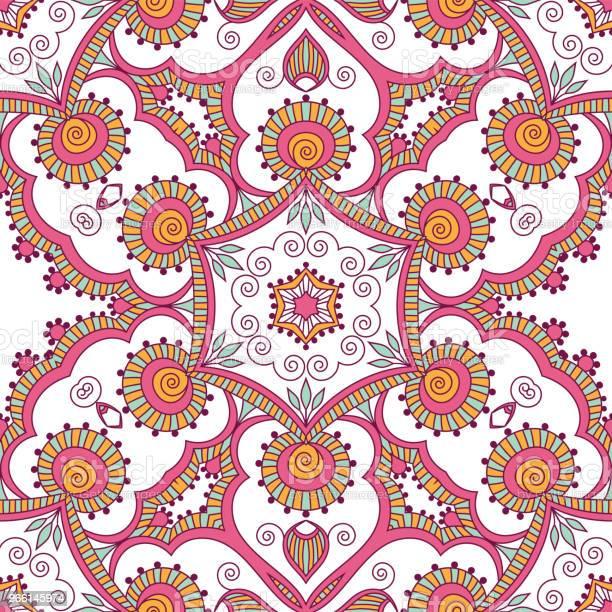 Hand Drawn Seamless Pattern — стоковая векторная графика и другие изображения на тему Аборигенная культура