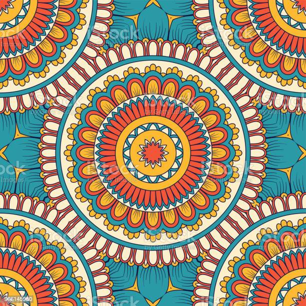 Hand Drawn Seamless Pattern Stock Illustration - Download Image Now