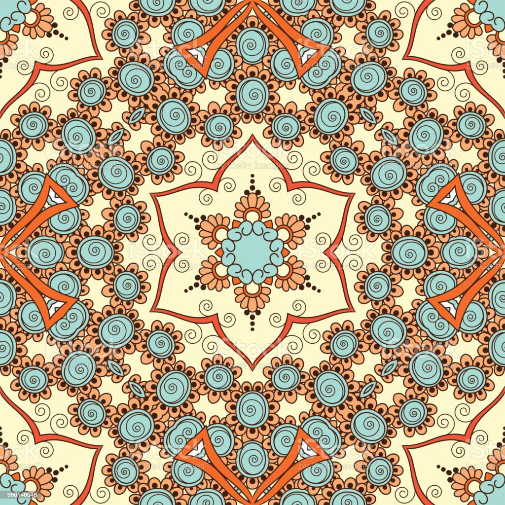 Hand drawn seamless pattern - Векторная графика Аборигенная культура роялти-фри
