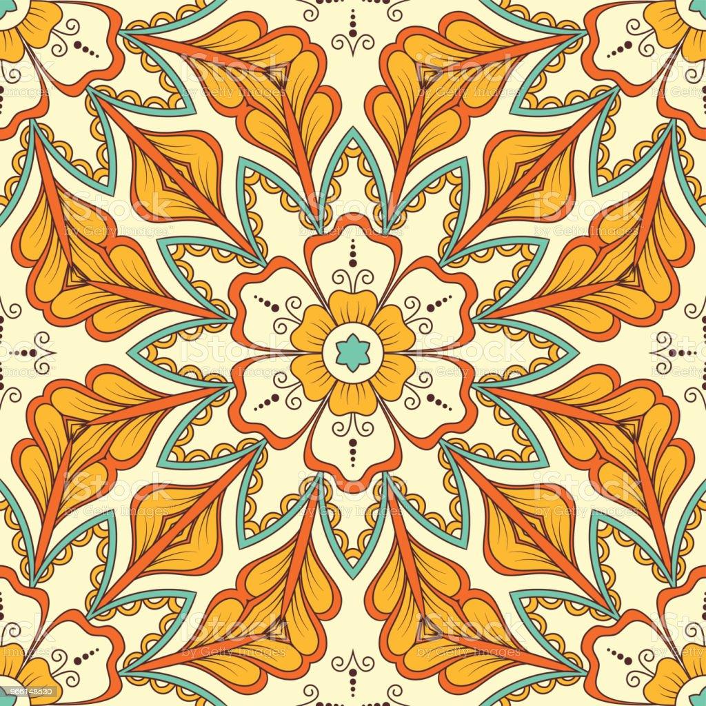Hand getekende naadloze patroon - Royalty-free Abstract vectorkunst