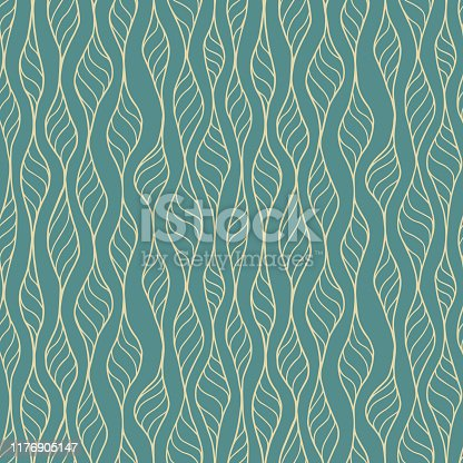 istock Hand Drawn Seamless Pattern Vector 1176905147
