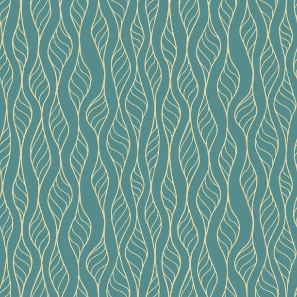 Hand Drawn Seamless Pattern Vector Seamless. Colors easily changed. animal stock illustrations