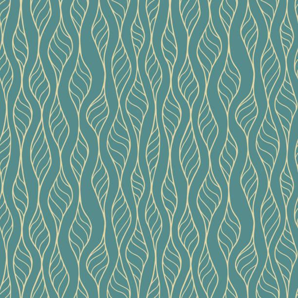 hand gezeichnet nahtlose muster vektor - algen stock-grafiken, -clipart, -cartoons und -symbole