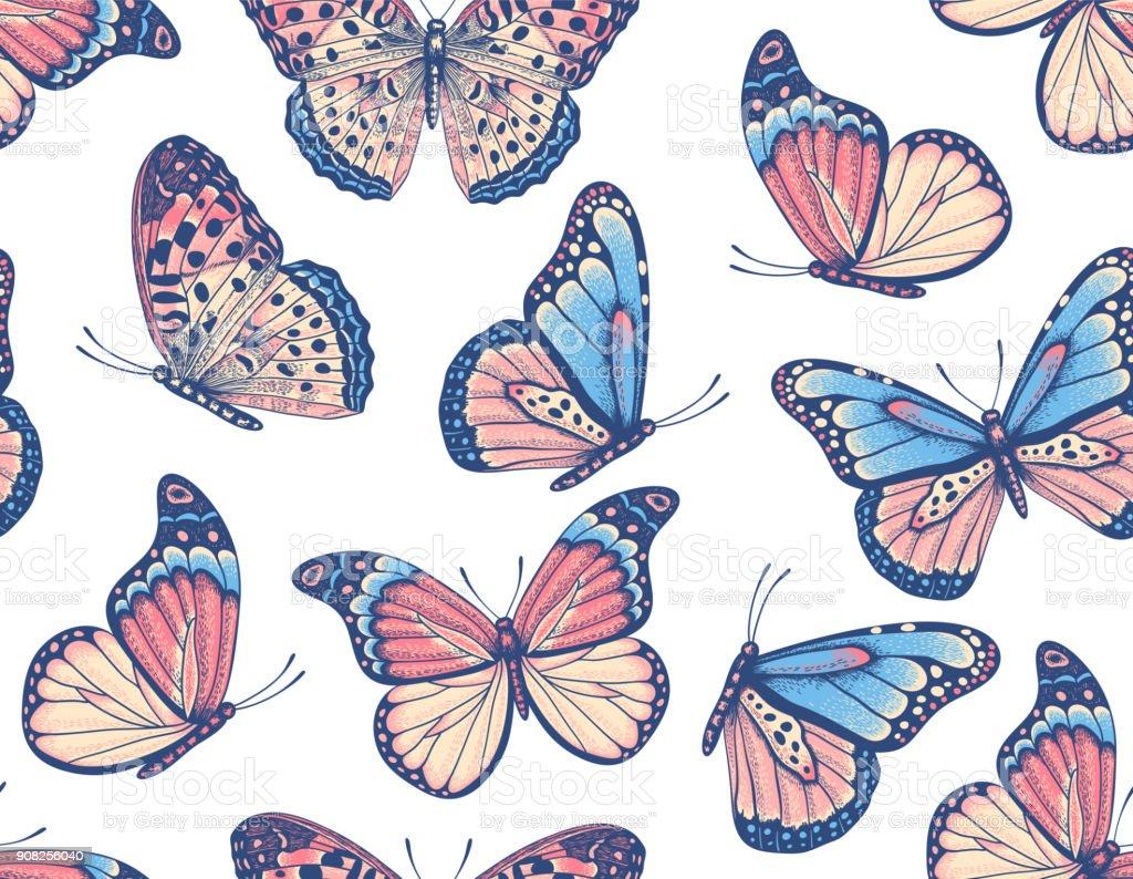 Ilustración de Mano Dibujada De Patrones Sin Fisuras Con Las ...