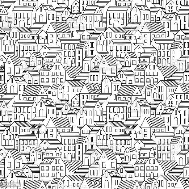 Hand drawn seamless pattern with town houses vector id518802758?b=1&k=6&m=518802758&s=612x612&h=xeprip0bxebx5gzs u758fjp xnoneltim0rbbaeaki=