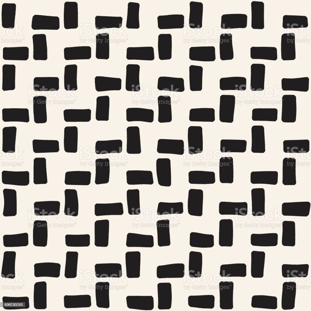 Hand Drawn Seamless Repeating Pattern With Lines Tiling Grungy ...
