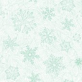 Winter seamless pattern with hand drawn snowflakes. Vector illustration.