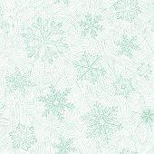 Hand Drawn Seamless Snowflakes