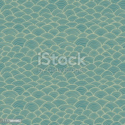 istock Hand Drawn Seamless Vector Pattern 1177884962