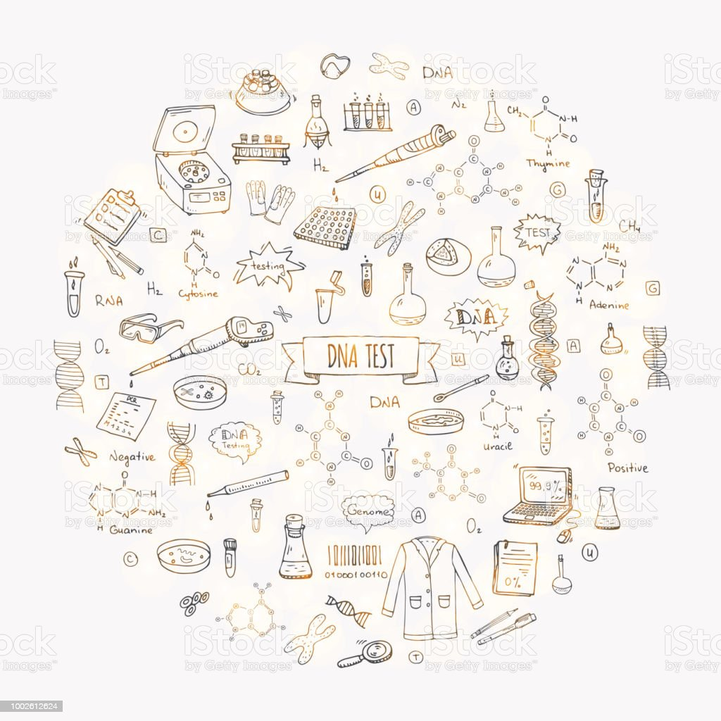 Hand drawn set of icons and elements vector art illustration