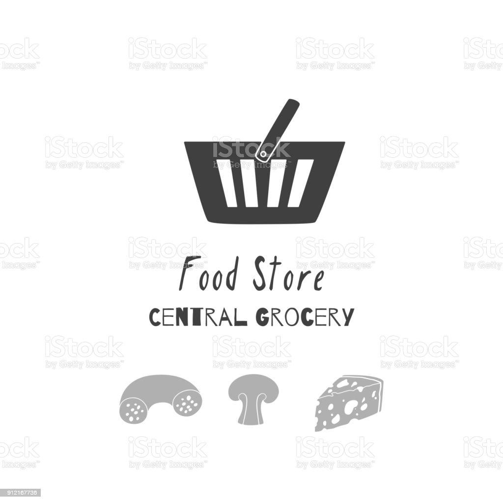 Handgezeichnete Silhouetten Aufbewahrung Von Lebensmitteln Symbol ...