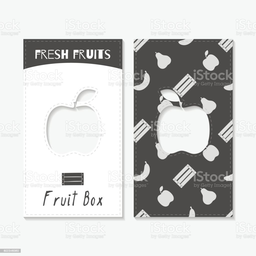 Silhouettes Dessines La Main Cartes De Visite Fruits