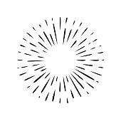 Hand drawn black and white simple splash vector icon