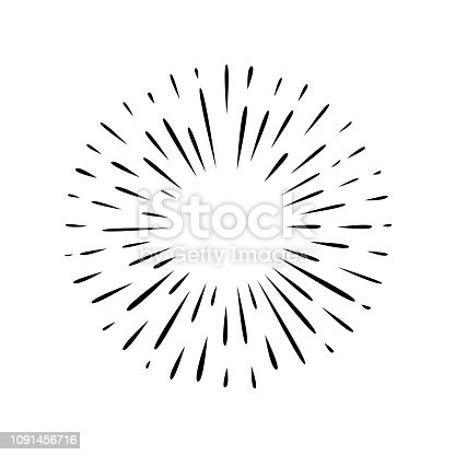 Hand drawn black and white simple splash vector icon
