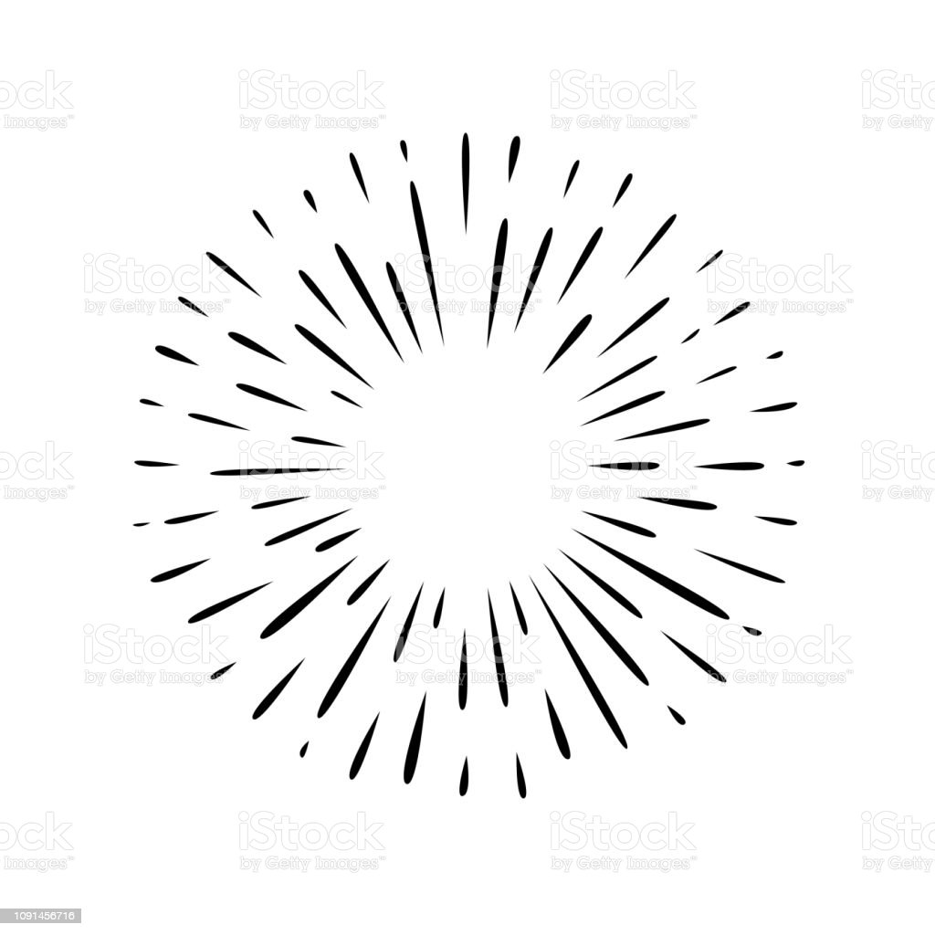 Hand drawn simple splash vector art illustration