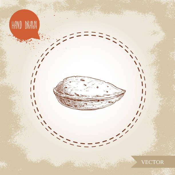 手描きのスケッチ アーモンド ナッツ。簡単に言えば単一有機 superfood 古い探している背景に分離されました。ベクトルの図。 ベクターアートイラスト