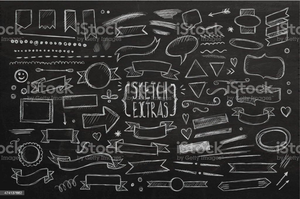 Hand drawn sketch-Elemente – Vektorgrafik