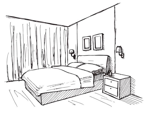 Royalty Free Simple Bedroom Clip Art, Vector Images