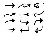 istock Hand Drawn Sketchy Arrows. Vector Design Elements 1214673828