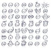 Hand drawn smiley faces/emoticons