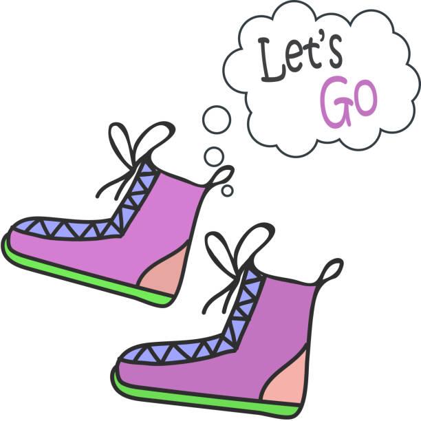 handgezeichnete sneakers, turnschuhe. keds-vektor-illustration. - keds stock-grafiken, -clipart, -cartoons und -symbole