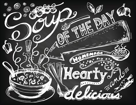Hand Drawn Soup Doodles