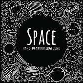 Hand drawn space vector background