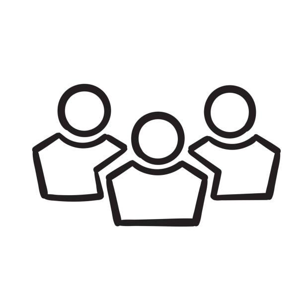 ilustraciones, imágenes clip art, dibujos animados e iconos de stock de icono de línea vectorial de escuadrón dibujado a mano. ilustración de elementos simples. icono de esquema de escuadrón de herramientas y utensilios concepto. se puede utilizar para web y móvil. doodle - anonymous red activista