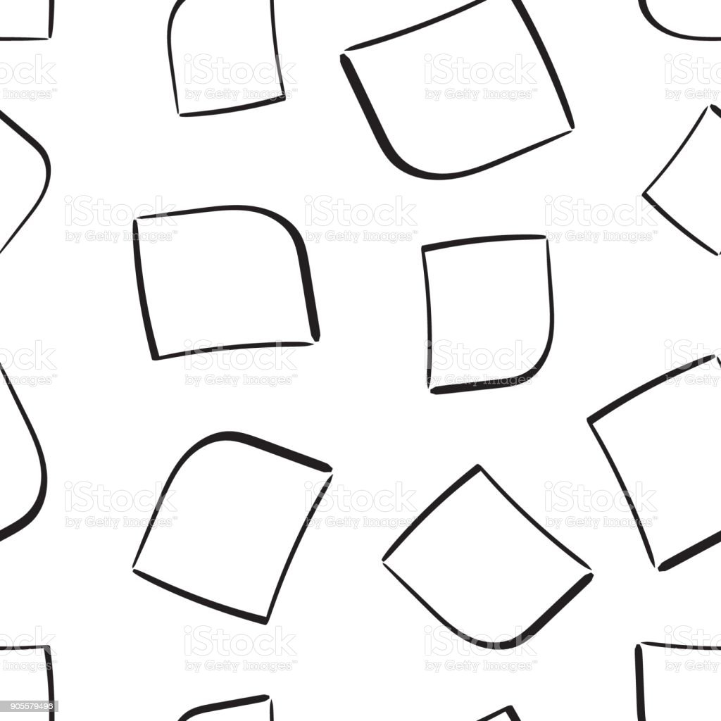 hand drawn squares frame box seamless pattern background business
