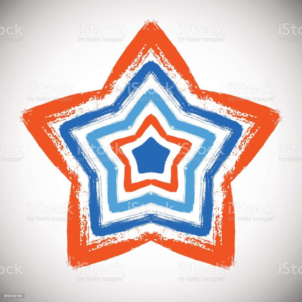 Hand Drawn Star 免版稅 hand drawn star 向量插圖及更多 仿舊 圖片