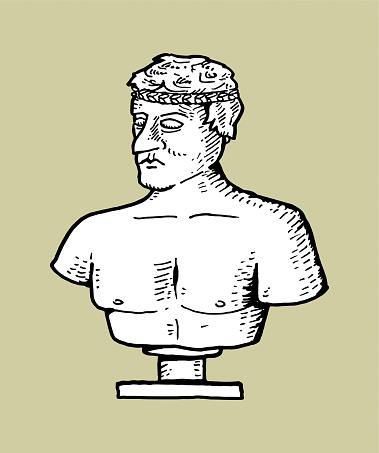 Hand drawn statue