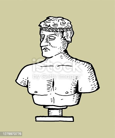 istock Hand drawn statue 1279970776