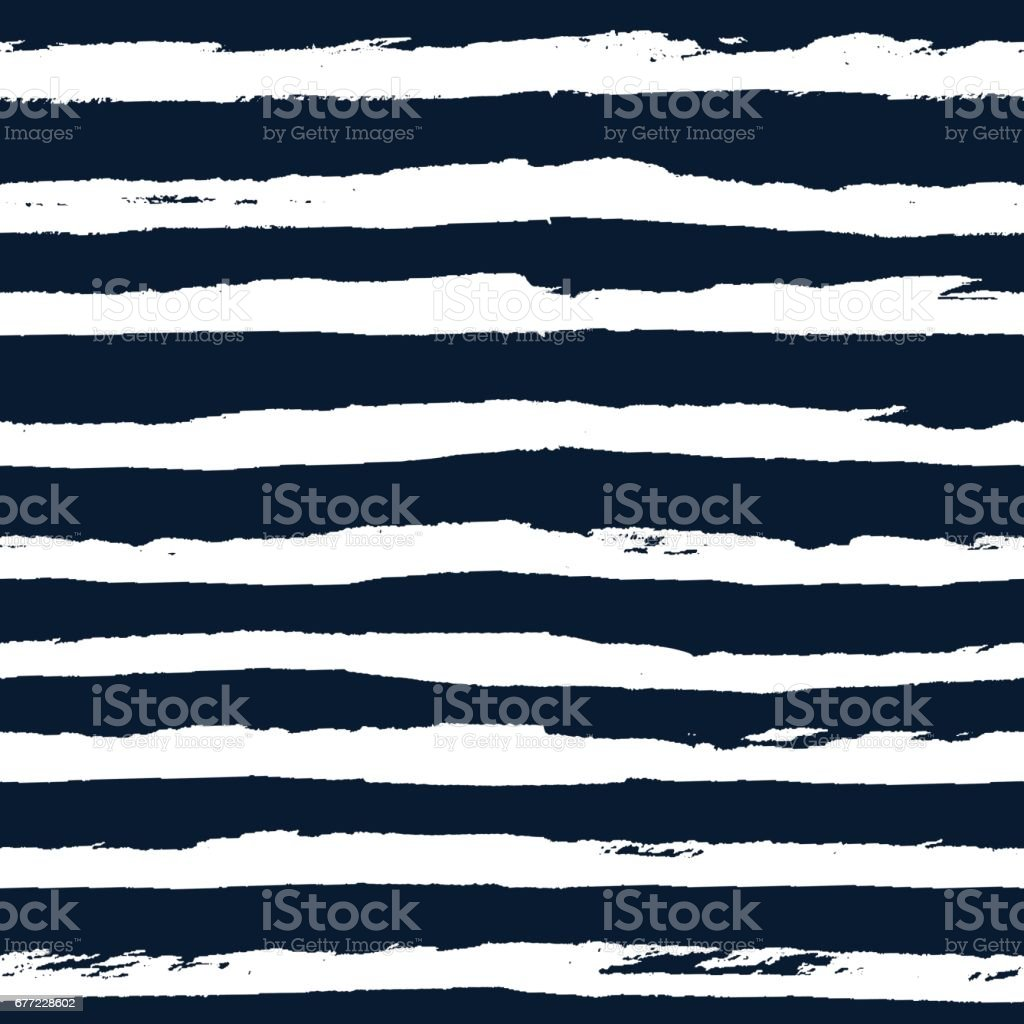 Hand drawn striped seamless pattern vector vector art illustration