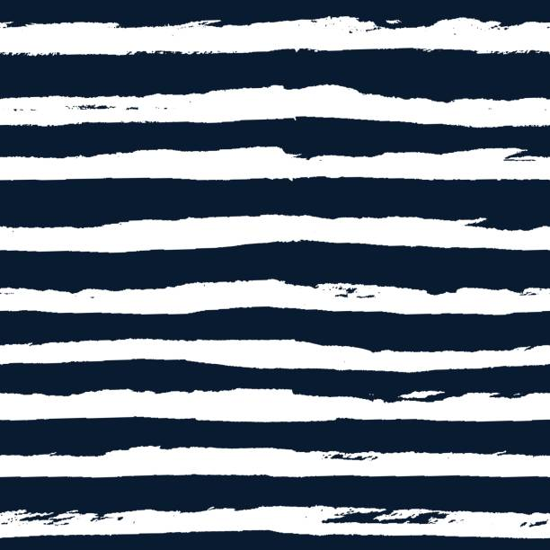 Bекторная иллюстрация Hand drawn striped seamless pattern vector