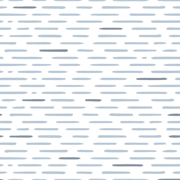 hand drawn striped seamless pattern with short horizontal brushstrokes. texture for print, wallpaper, home decor, spring summer fashion fabric, textile, invitation background, paper - spring fashion stock illustrations, clip art, cartoons, & icons