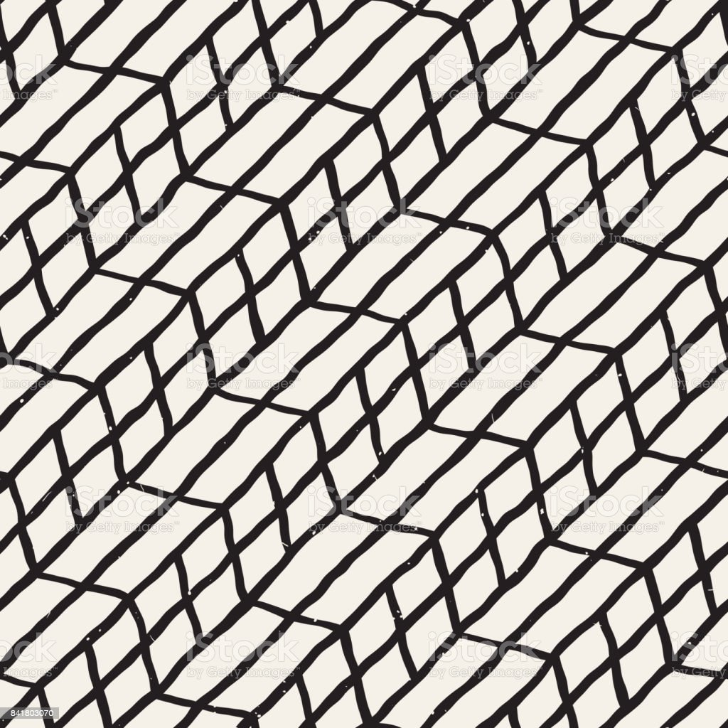 Hand Drawn Style Seamless Pattern Abstract Geometric Tiling ...